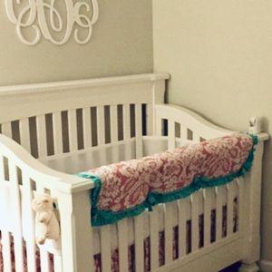 Upscale boutique crib bedding, EUC